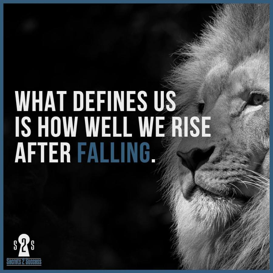 How well we rise after falling
