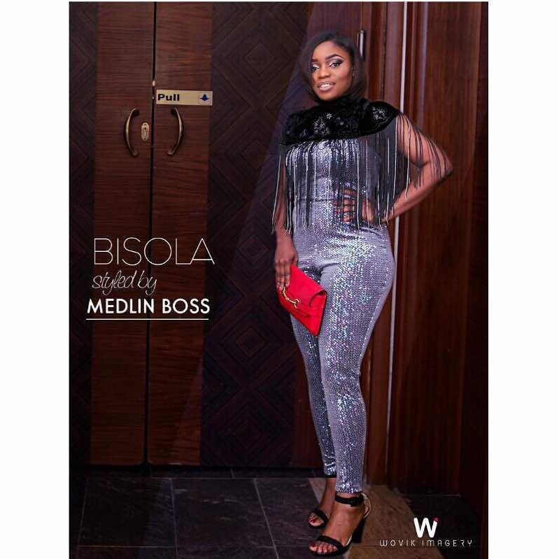Bisola posted pictures of outfit on instagram styled by Medlin Boss