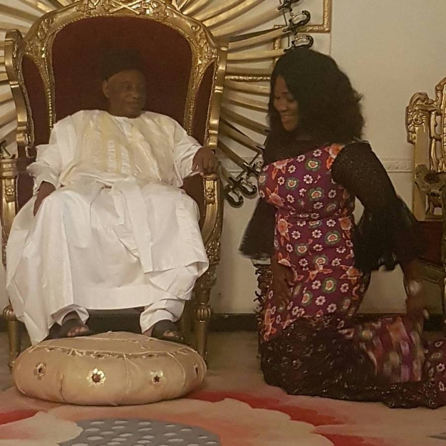 Mercy Johnson Okojie, visited the palace of the Ohinoyi ofEbiraland