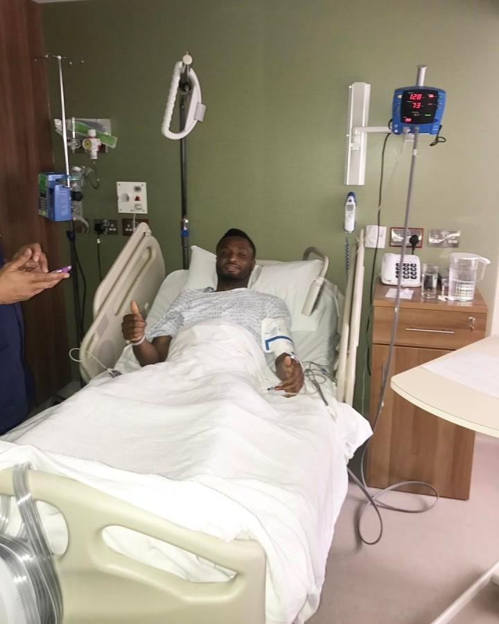 Mikel Obi had a successfulsurgery