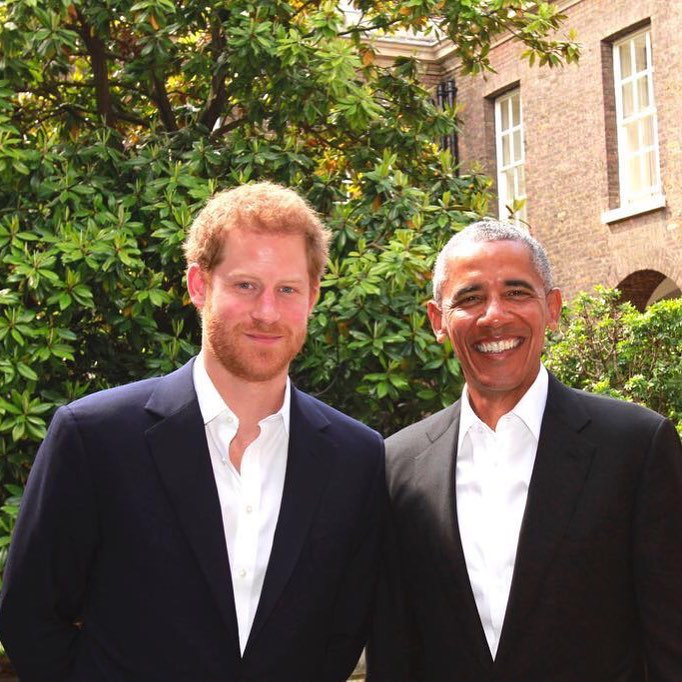 Prince Harry hosted US President Barack Obama at Kensington palace today