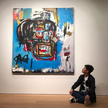 Basquiat painting sold at auction in New York for $110.5m(£85.4m)