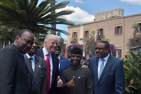 Osibanjo joins world leaders at the G7 summit in italy