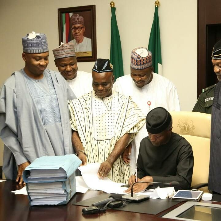 2017 Budget, signed into law by Acting President Osibanjo