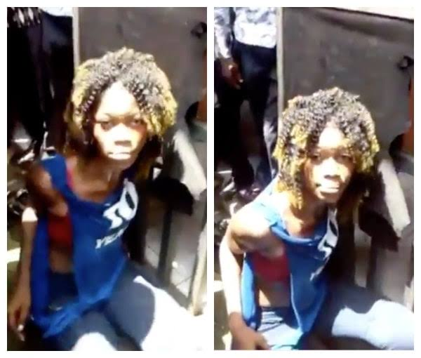 Female thief caught and disgraced in Portharcourt(video)
