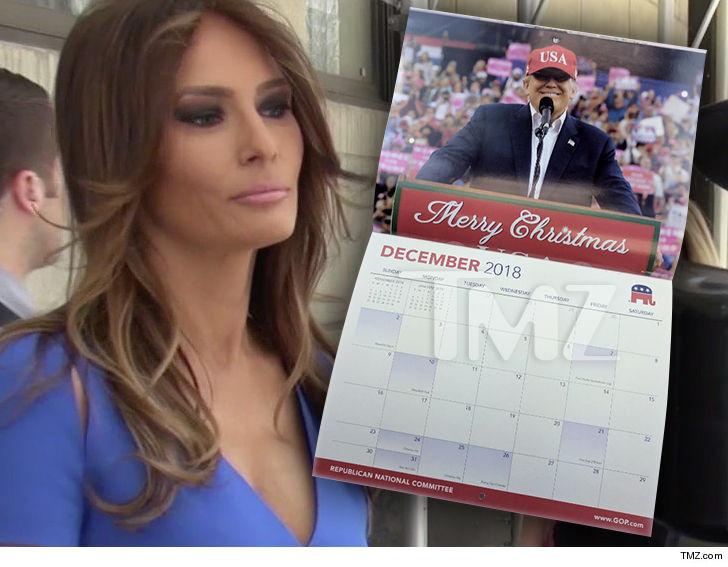 Melania Trump hawking 2018 RNC calendar featuring her favouritephotos