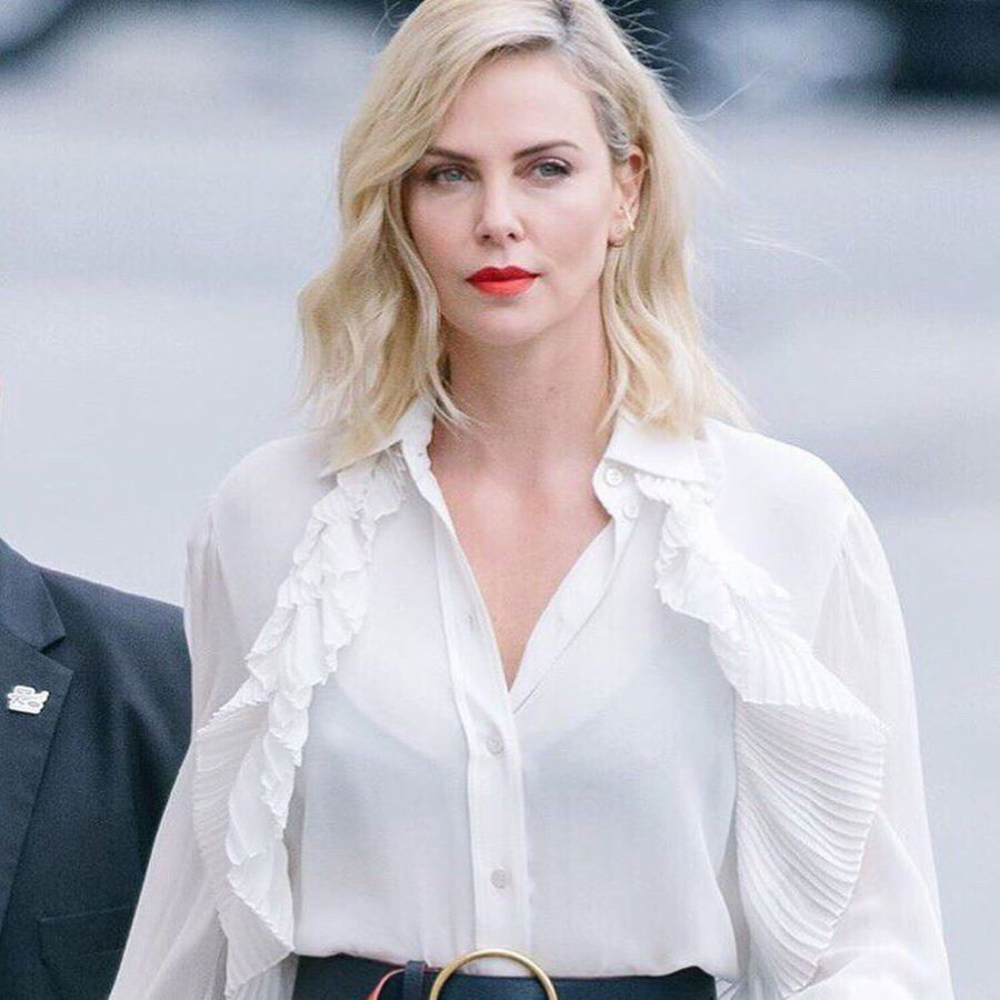 Charlize Theron reveals her mom supplies her withmarijuana