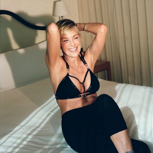 Sharon Stone celebrates 60th birthday with Miami beachPDA