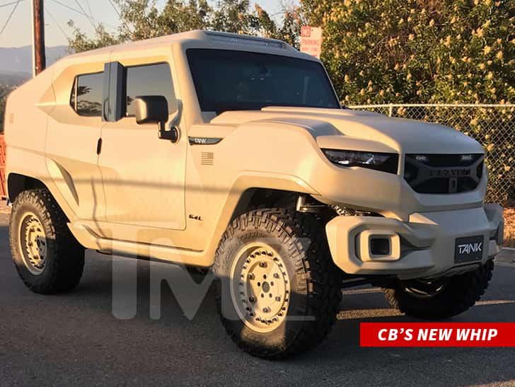 Chris Brown drops over $350k for bulletproof SUV(video)
