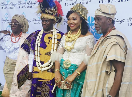 Wedding Photos of  Olusoji  Jacobs, son of Olu Jacob and Joke Silva